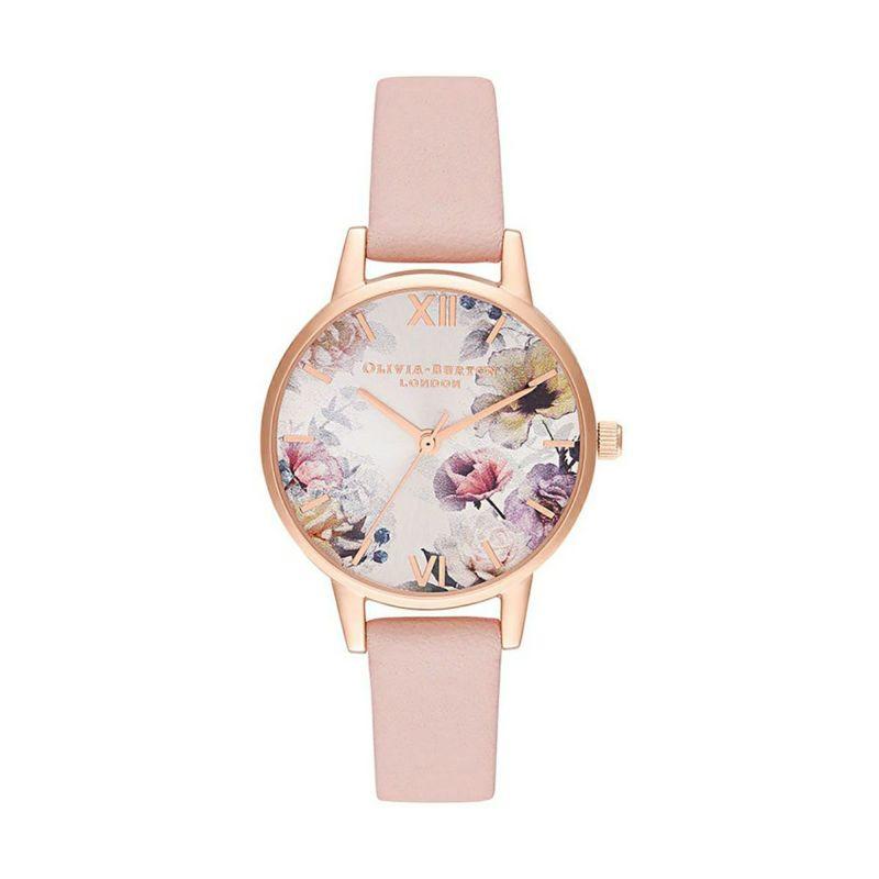 オリビアバートン OLIVIA BURTON サンライトフローラル ミディ ダスティピンク ブラッシュサンレイ & ローズゴールド 腕時計