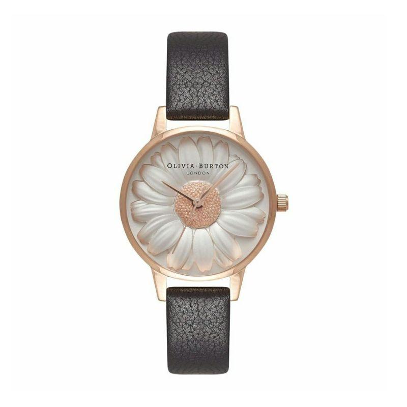 オリビアバートン OLIVIA BURTON 3D デイジー ブラック & ローズゴールド 腕時計