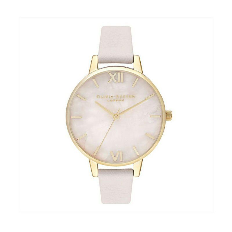 オリビアバートン OLIVIA BURTON セミプレシャス デミ ローズ クォーツ ブロッサム & ゴールド 腕時計