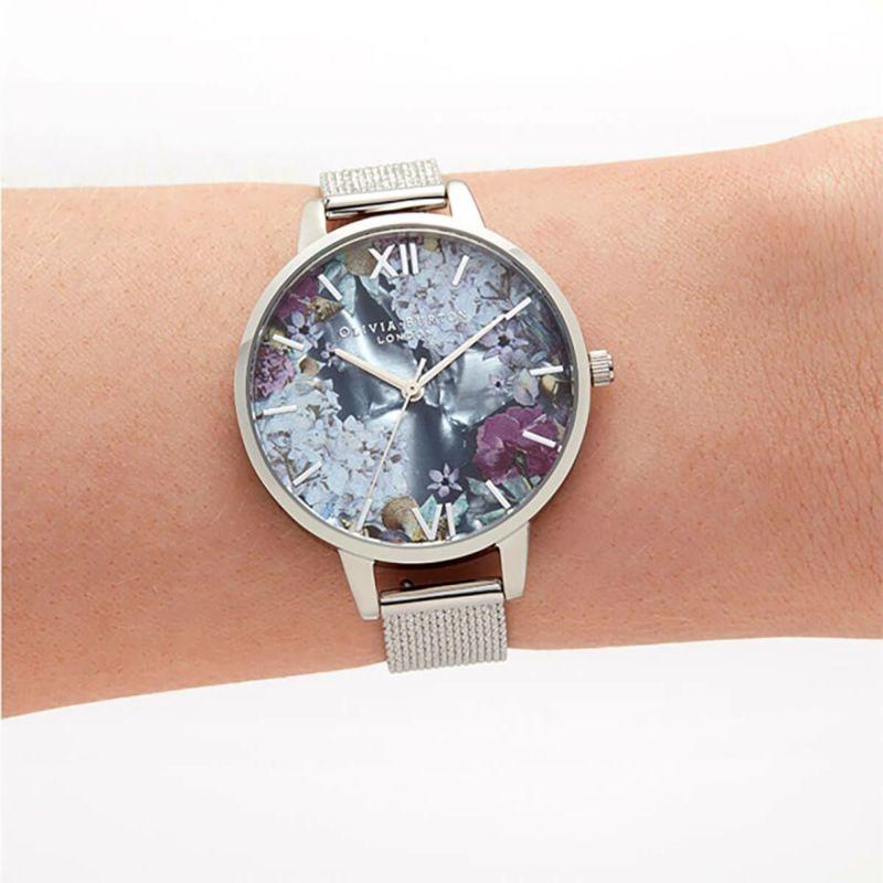 オリビアバートン OLIVIA BURTON アンダーザシー フォウ マザーオブパール & シルバー ブークレ メッシュ 腕時計