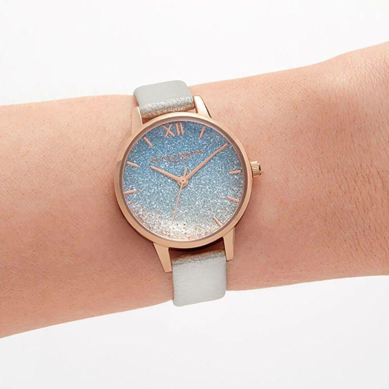 オリビアバートン OLIVIA BURTON アンダーザシー ウィッシング ウェイブ グリッター ダイヤル シマー パール & ローズゴールド 腕時計