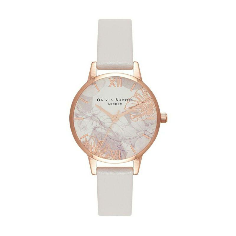 オリビアバートン OLIVIA BURTON アブストラクトフローラル ブラッシュ & ローズゴールド 腕時計