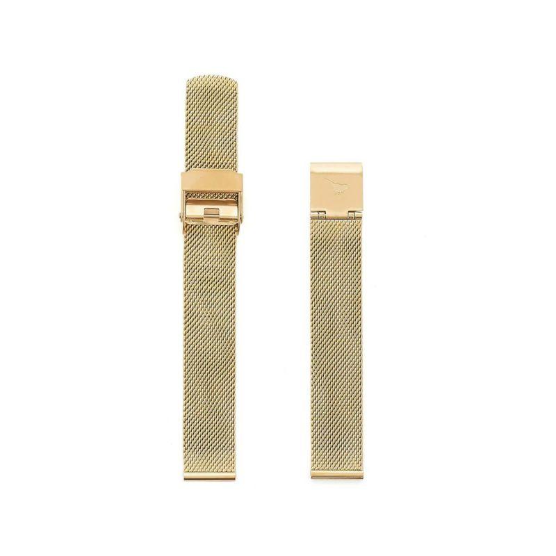 オリビアバートン OLIVIA BURTON 12mm 替えベルト ステンレススチール ゴールドメッシュ 腕時計用ベルト/12mm幅ベルト