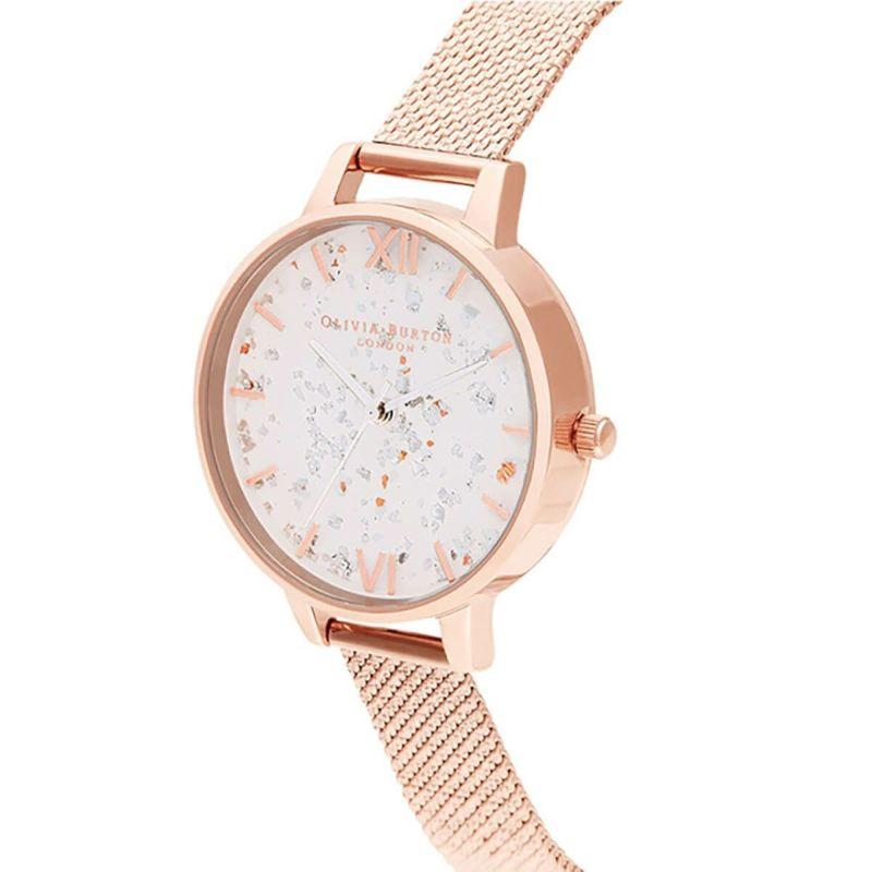 オリビアバートン OLIVIA BURTON セレスティアル ローズゴールド ブークレ メッシュ 腕時計