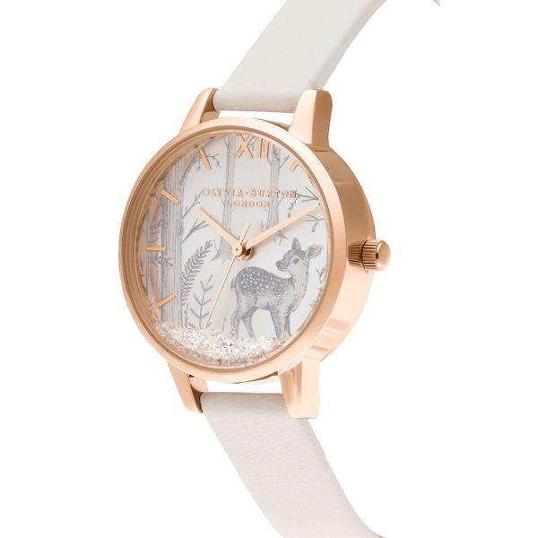オリビアバートン OLIVIA BURTON スノーグローブ ビーガン ブラッシュ & ローズゴールド 腕時計