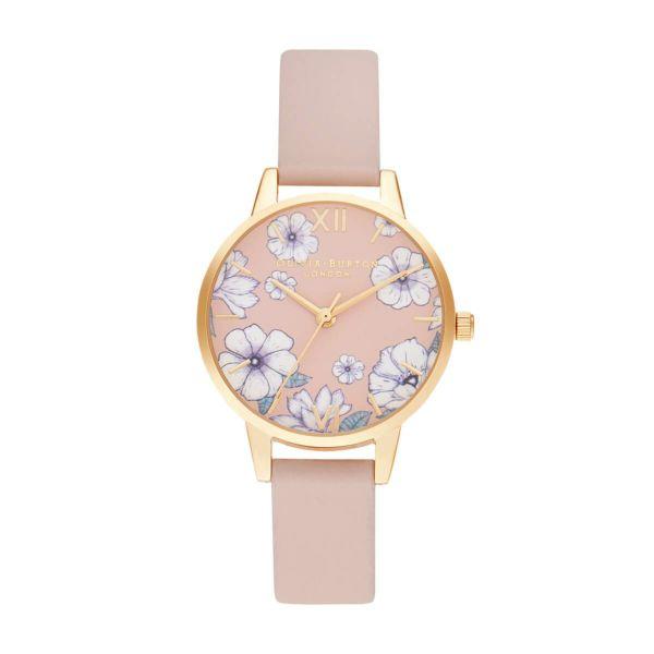オリビアバートン OLIVIA BURTON グルービー ブルームス エコ キャンディ ピンク & ゴールド 30mm 腕時計