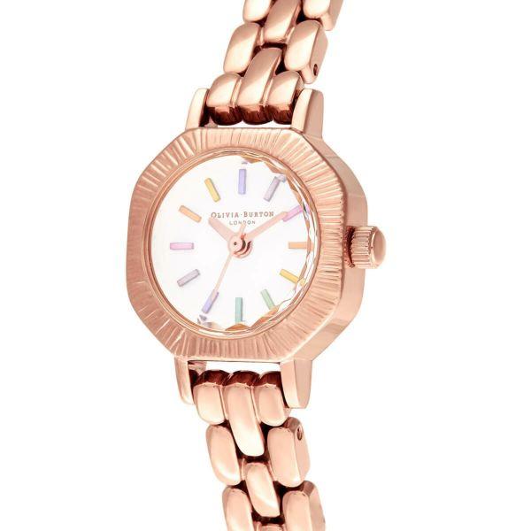 オリビアバートン OLIVIA BURTON レインボー ペール ローズゴールド ブレスレット ミニ ダイヤル 23mm 腕時計