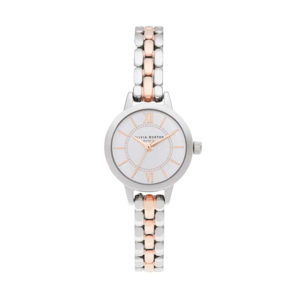 オリビアバートン OLIVIA BURTON ワンダーランド ツートーン シルバー & ローズゴールド ブレスレット ミニ ダイヤル 腕時計