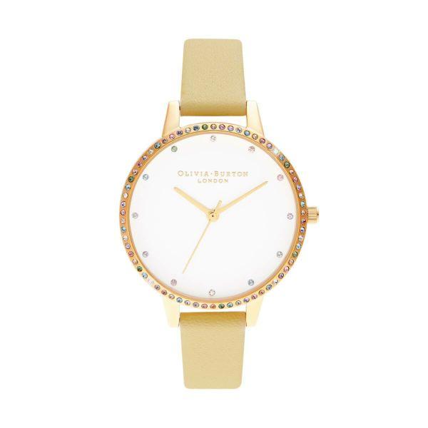 オリビアバートン OLIVIA BURTON レインボー ベゼル サンシャイン & ゴールド 34mm 腕時計