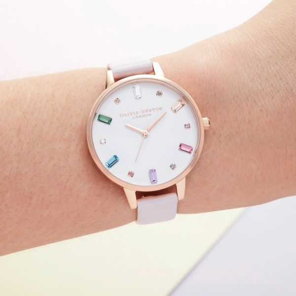 オリビアバートン OLIVIA BURTON レインボー ブロッサム & ローズゴールド 34mm 腕時計