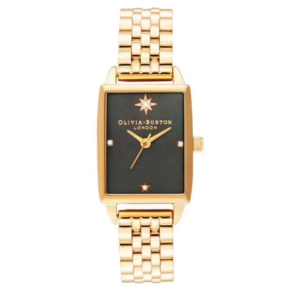 オリビアバートン OLIVIA BURTON [先行直営店発売]ブラック マザー オブ パールダイアル & ゴールド ブレスレット 腕時計