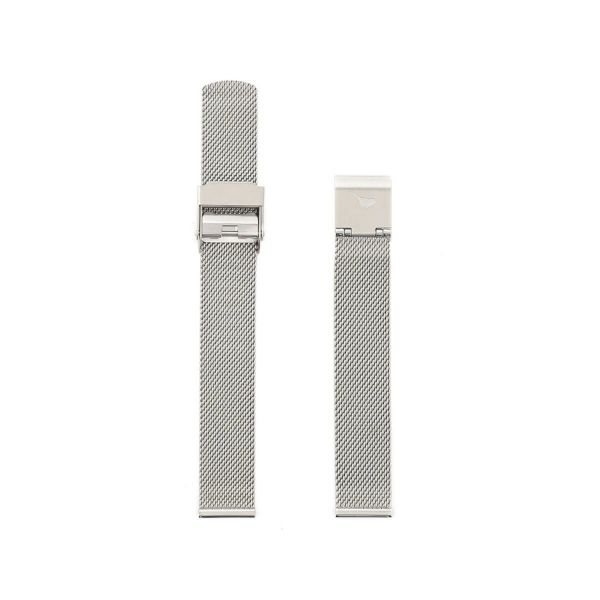 オリビアバートン OLIVIA BURTON 14mm 替えベルト ステンレス メッシュ シルバー 腕時計用ベルト/14mm幅ベルト