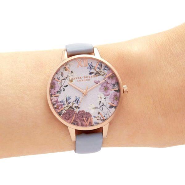オリビアバートン OLIVIA BURTON ブリティッシュブルーム チョークブルー & ローズゴールド 腕時計