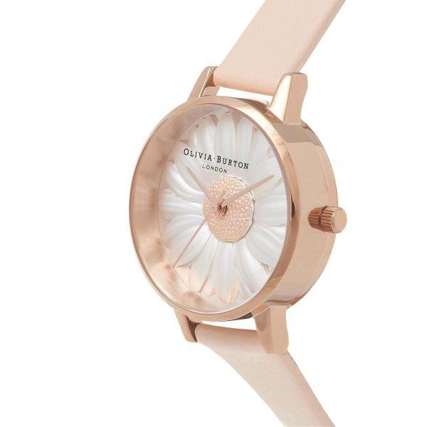 オリビアバートン OLIVIA BURTON 3D デイジー ヌード ピーチ & ローズゴールド 腕時計